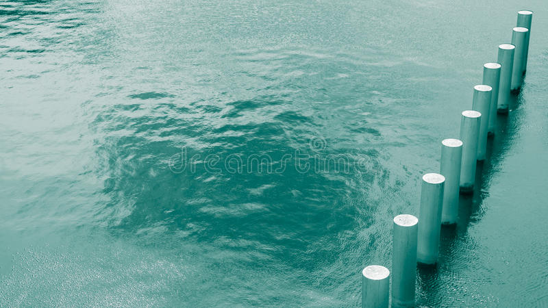 Pillars in water royalty free stock images