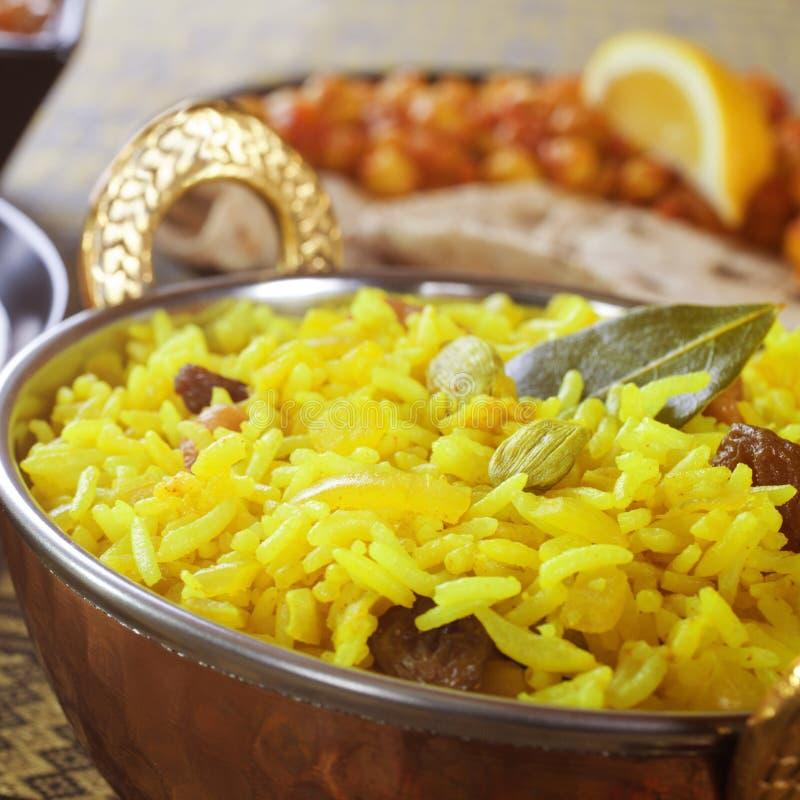 Pillau Rice w Balti naczyniu zdjęcie royalty free