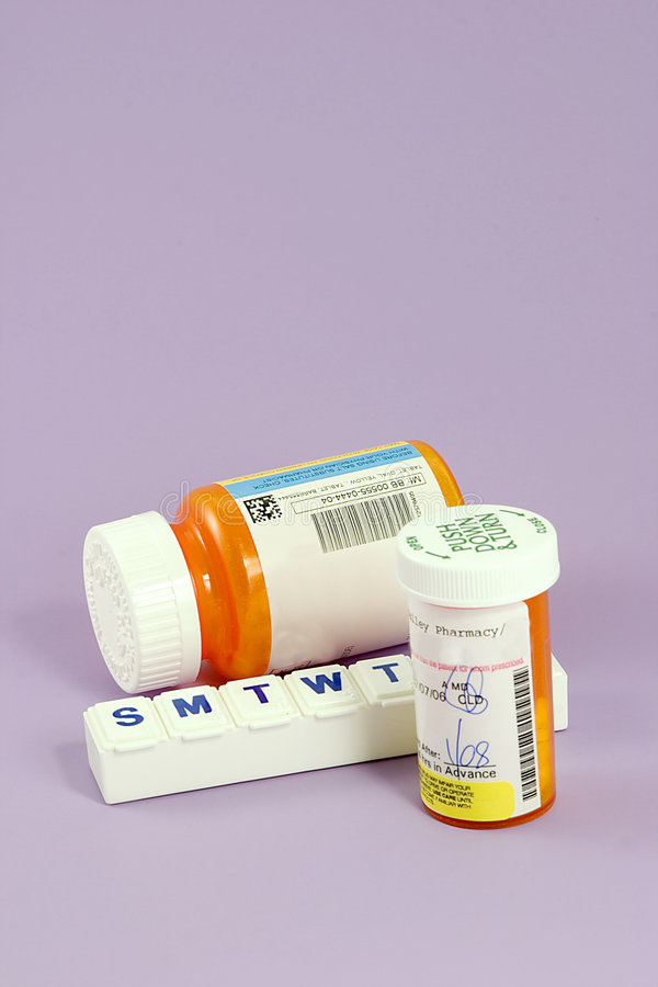 Pille-Behälter lizenzfreie stockbilder