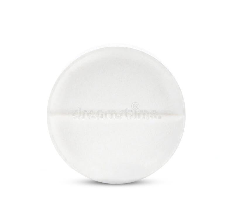Pille getrennt auf weißem Hintergrund stockbild