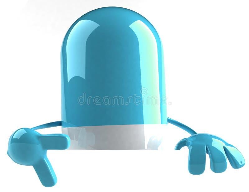 Pille mit einem unbelegten Zeichen vektor abbildung
