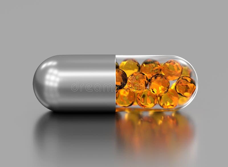 Pille Omega 3 3d ?bertragen lizenzfreie abbildung