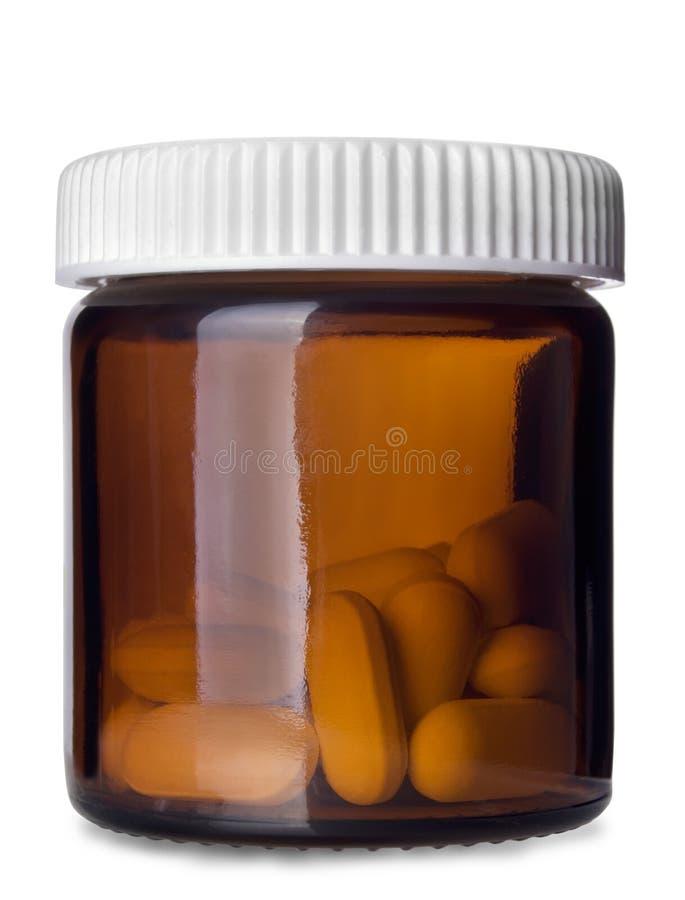 Pilleflasche stockbild