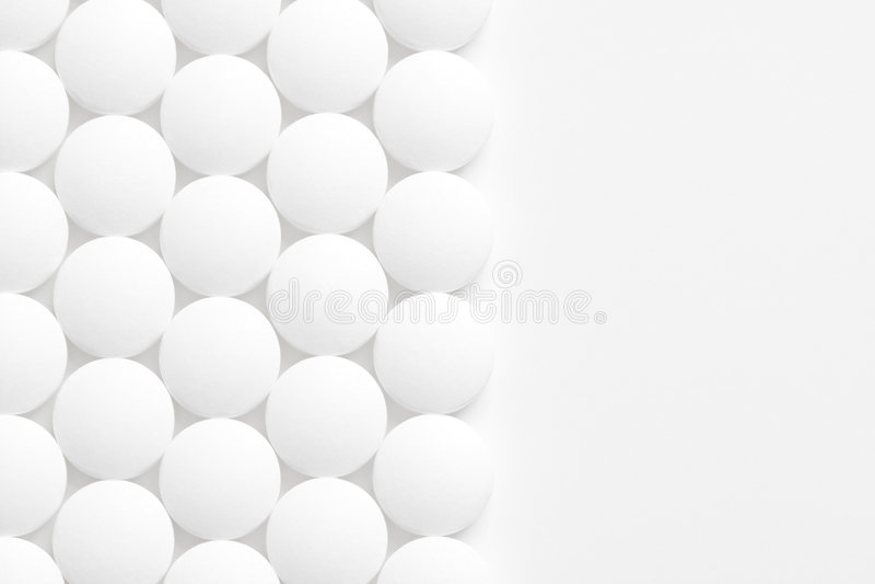 Pillehintergrund auf Weiß stockbild