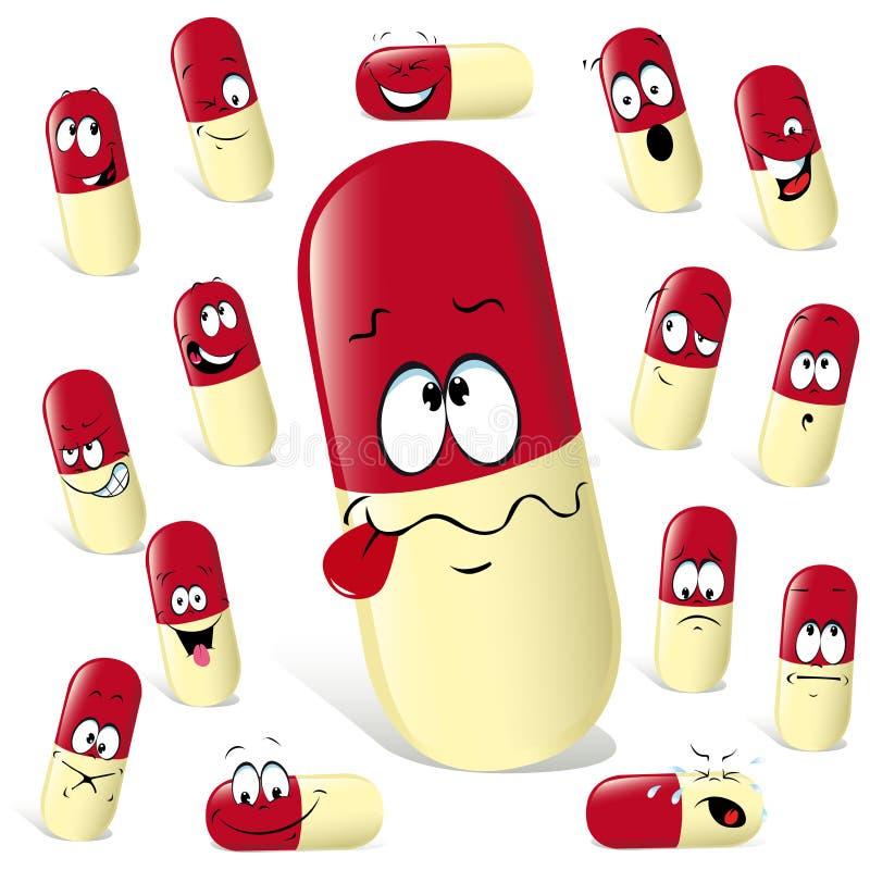 Pillekarikatur lizenzfreie abbildung