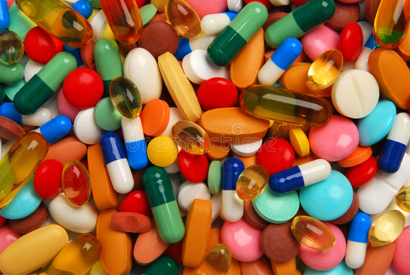 Pillen stock afbeeldingen