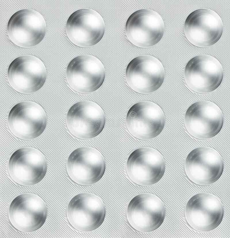 Pillen in einem Blasensatz stock abbildung