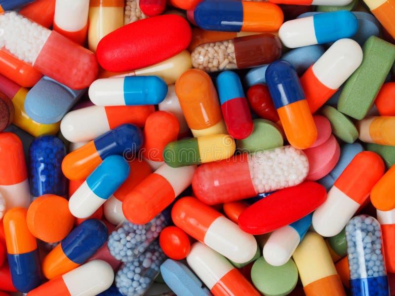 Pillen en capsules royalty-vrije stock foto's