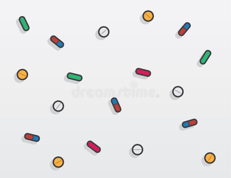 Pillen-Fallen stock abbildung
