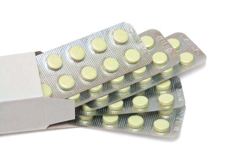 Pillen im Kasten lizenzfreies stockfoto