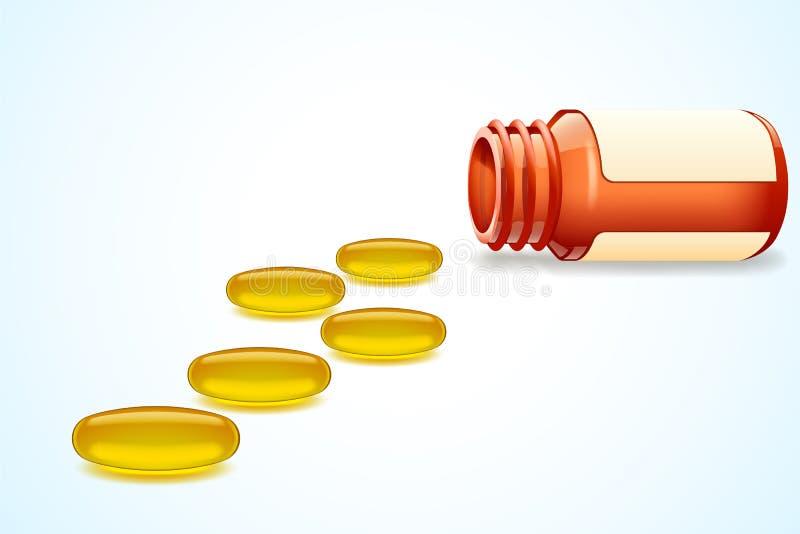 Pillen Omega lizenzfreie abbildung