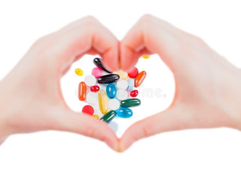 Pillen tegen hoge bloeddruk royalty-vrije stock foto