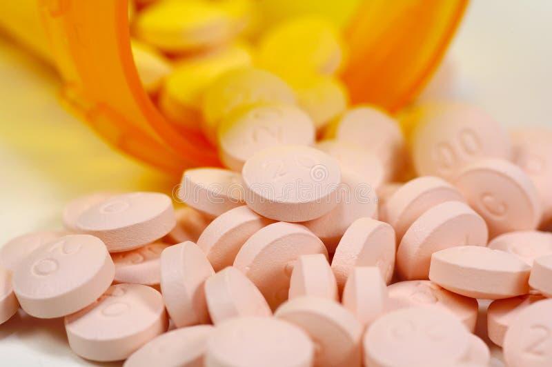 Pillen Und Eine Flasche 3 Lizenzfreies Stockbild