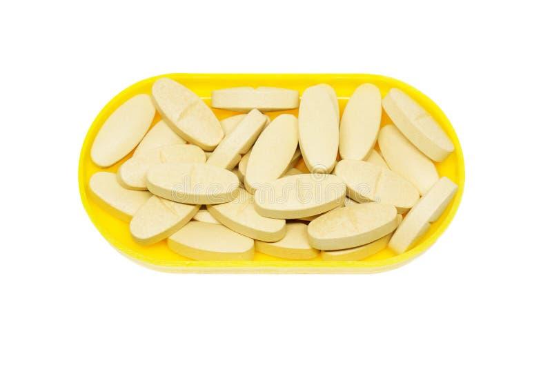 Pillen of vitamine in Geneeskunde royalty-vrije stock fotografie