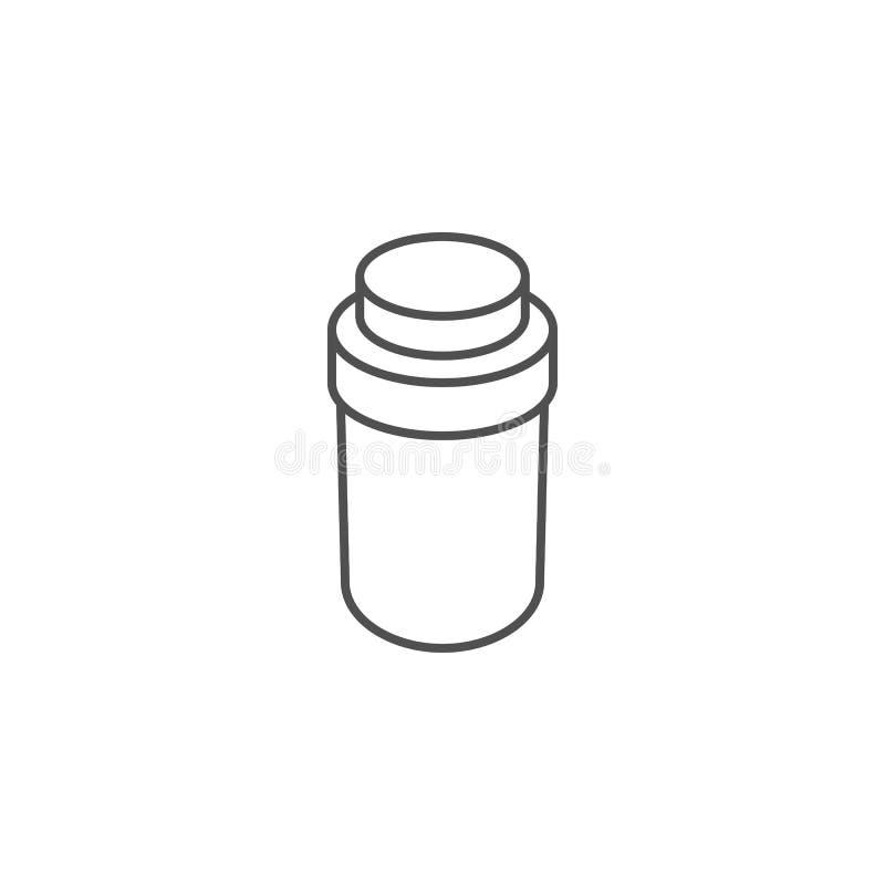 Pillenflaschen-Vektorikone vektor abbildung