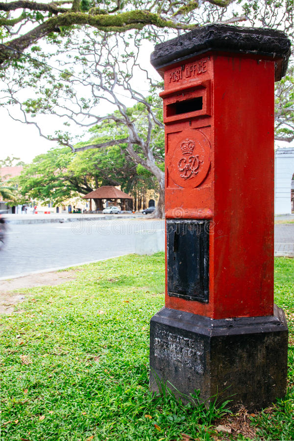 Pillerask i staden av Galle, en kvarleva av det gamla kolonet för Sri Lanka ` s arkivbilder