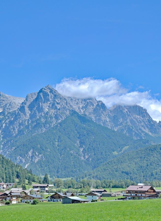 Pillersee dolina, Fieberbrunn, Tirol, Alps, Austria obrazy stock