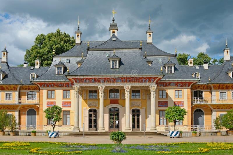 Pillnitz slott royaltyfri fotografi