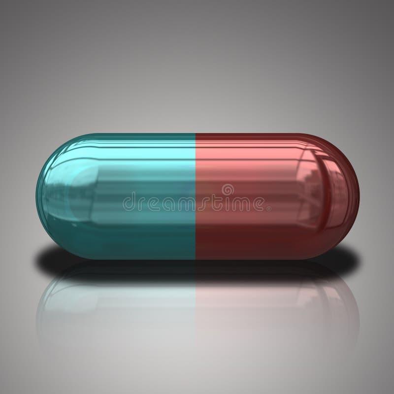 Pillola blu e rossa royalty illustrazione gratis
