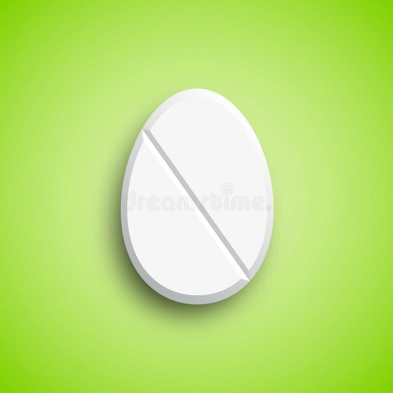 Pillola della medicina di Pasqua nella forma dell'uovo royalty illustrazione gratis