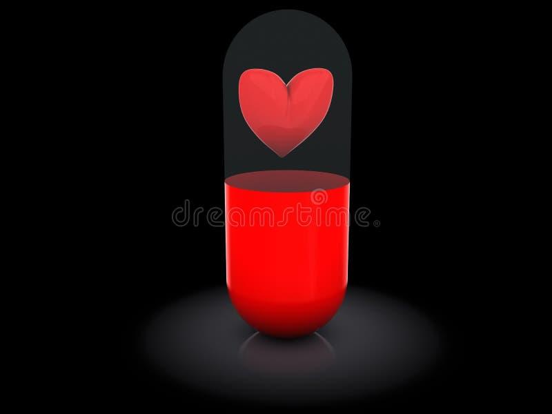 Pillola di amore royalty illustrazione gratis