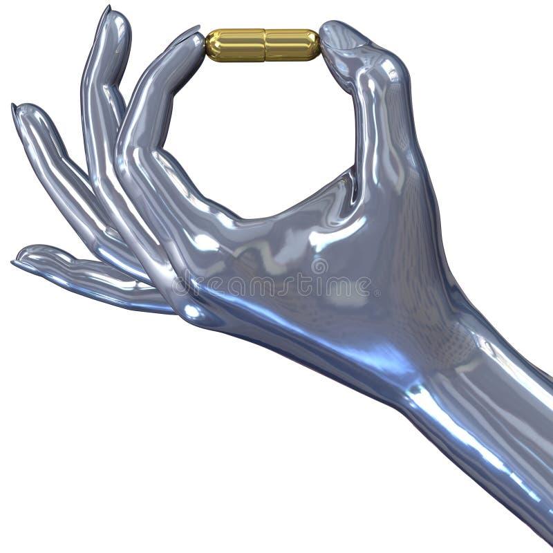 Pillola dorata illustrazione vettoriale