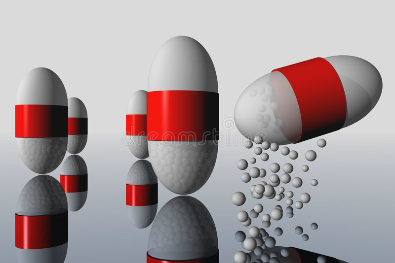Pillole illustrazione di stock