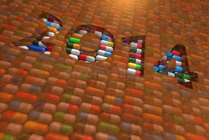 Pillole 2014 fotografia stock