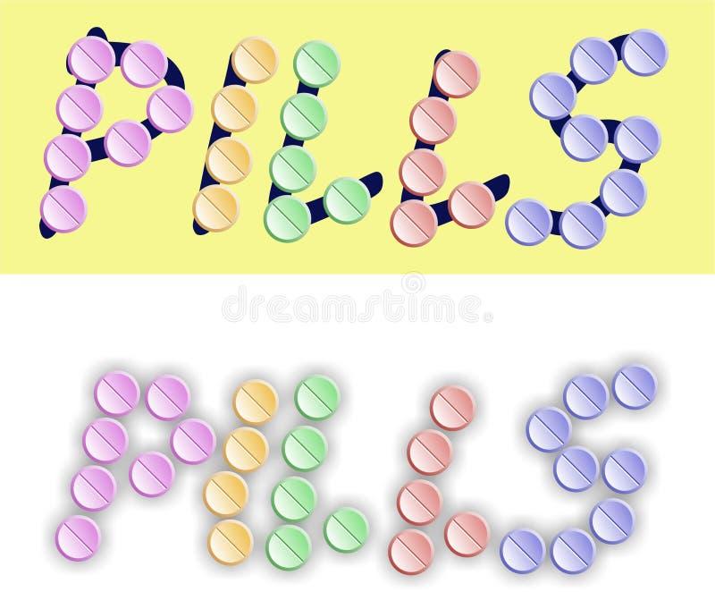 Pillole illustrazione vettoriale