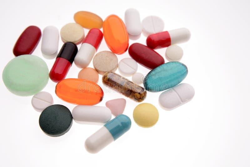 Pillole Assorted fotografie stock libere da diritti