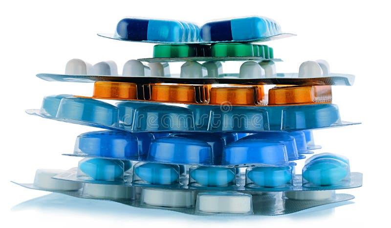 Pillole dell'imballaggio fotografie stock libere da diritti