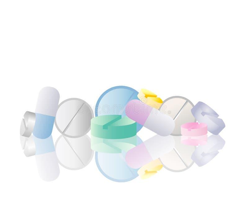 Pillole della farmacia illustrazione di stock