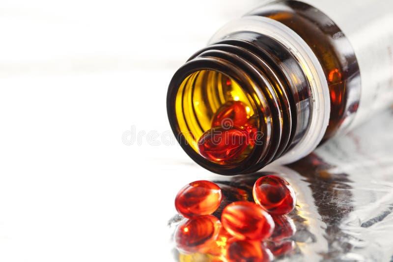 Pillole della vitamina fotografie stock libere da diritti