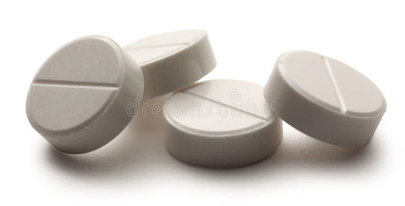 Pillole di Aspirin fotografia stock