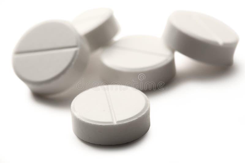 Pillole di Aspirin fotografia stock libera da diritti