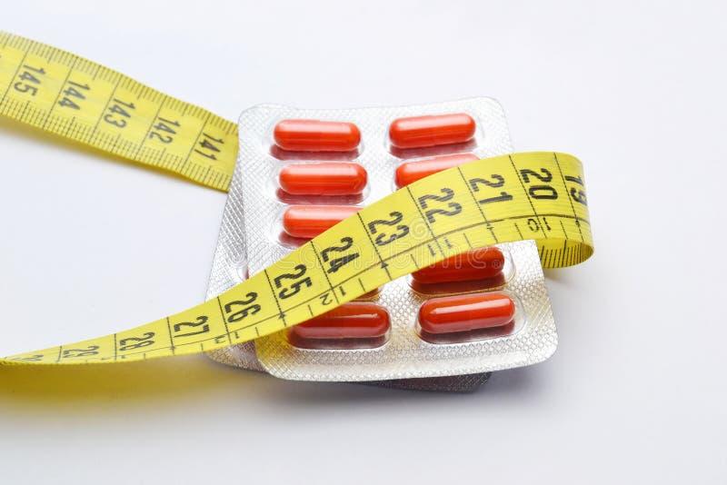 pillole di dieta fotografia stock