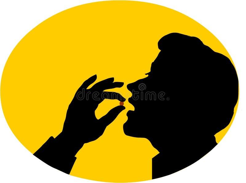 Download Pillole Mangiarici Di Uomini Illustrazione di Stock - Illustrazione di pillole, digitale: 219745