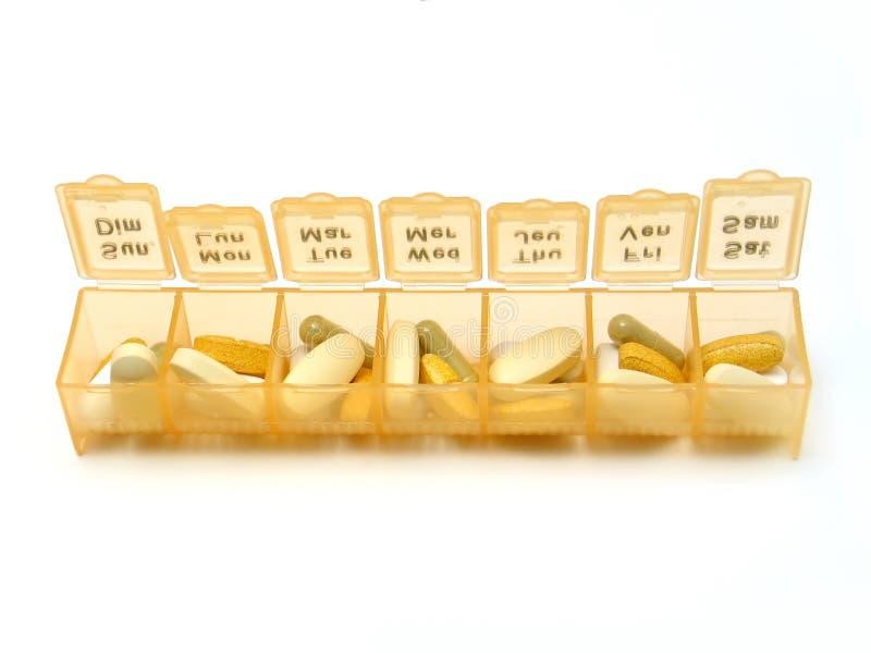 Pillole quotidiane fotografie stock libere da diritti
