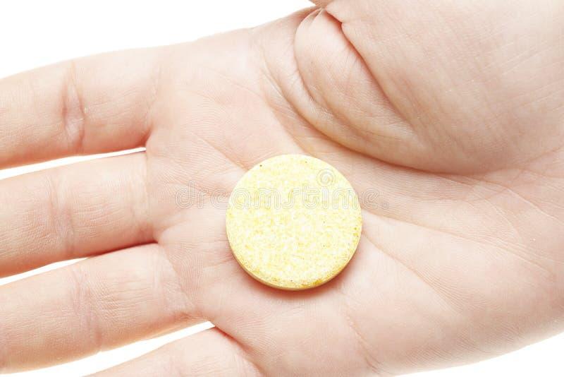 Pillole su priorità bassa bianca fotografia stock libera da diritti