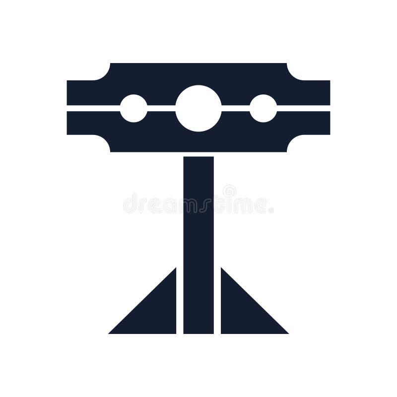 Pillory pictogram vectordieteken en symbool op witte achtergrond, Pillory embleemconcept wordt geïsoleerd vector illustratie
