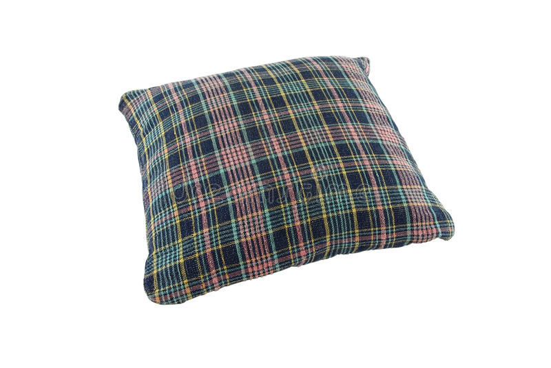 Download Pillow Blue Shade Plaid Stock Photography - Image: 24076072