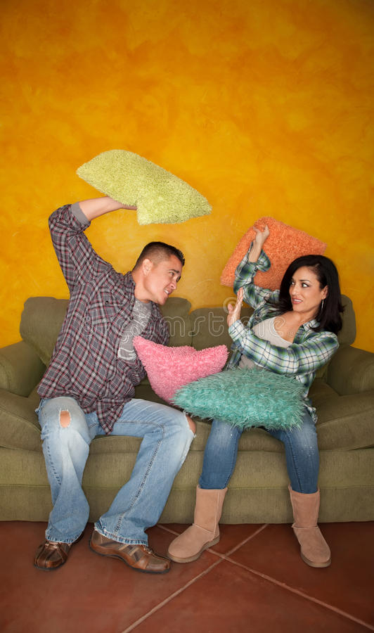 Download Pillow Fight Royalty Free Stock Image - Image: 13842266