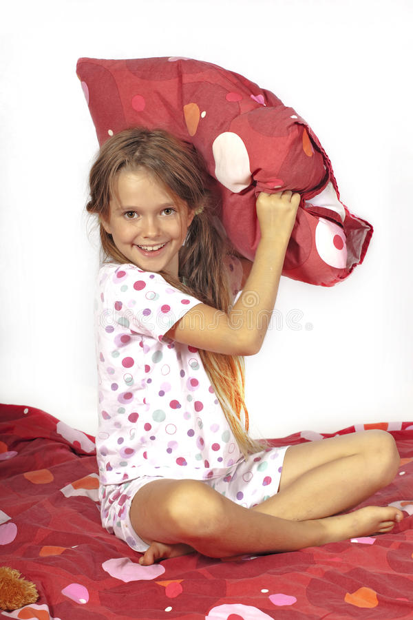 Download Pillow fight stock photo. Image of pillows, cheeky, female - 20620878
