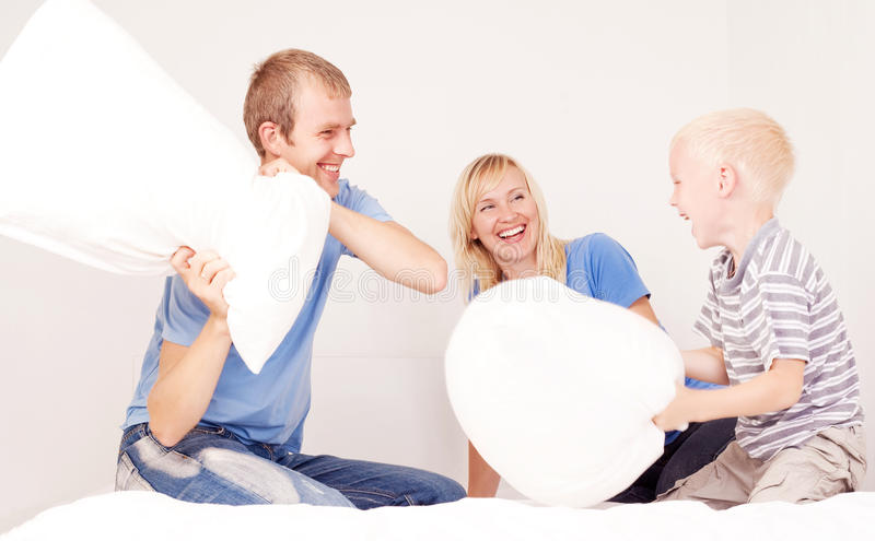 Pillow Fight Royalty Free Stock Photos