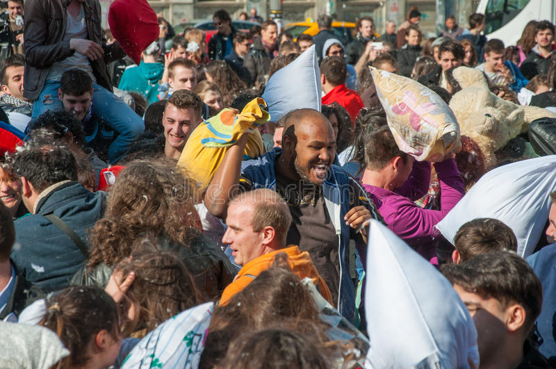 Pillow Fight Day 2015 royalty free stock image