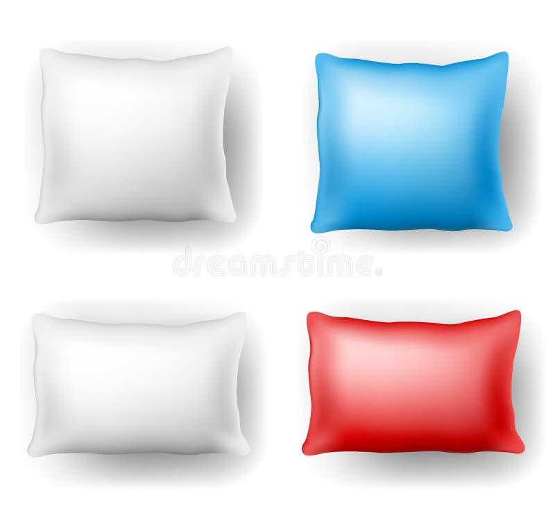 Pillow set royalty free illustration