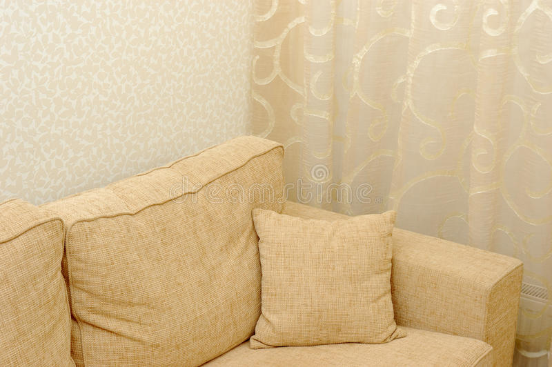 Download Pillow on sofa stock photo. Image of recreation, cushion - 27832666
