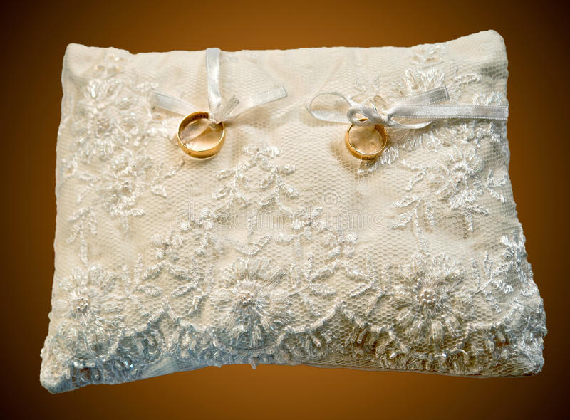 Download Pillow With Wedding Rings Stock Photo - Image: 19526020