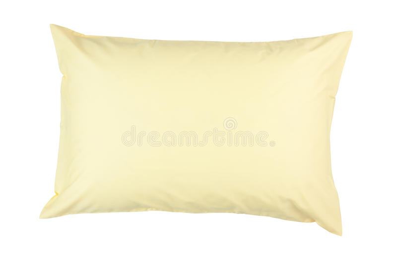 Download Pillow With Yellow Pillow Case Stock Photo - Image: 27102960