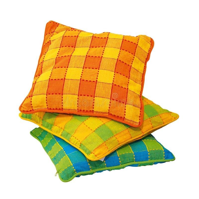 pillows шотландка стоковая фотография rf